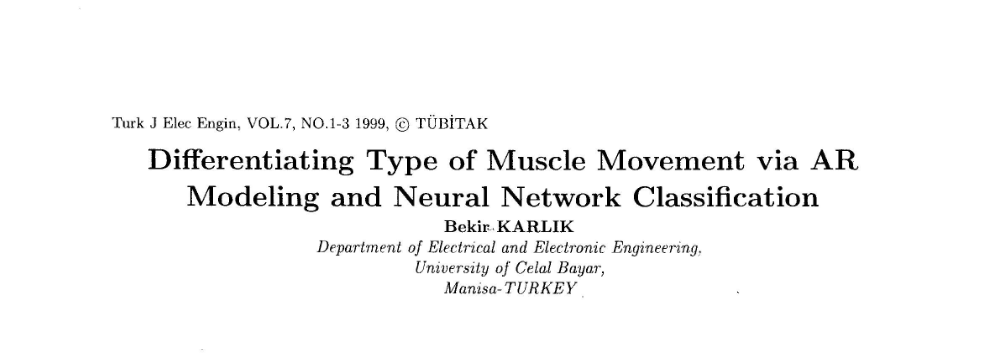 57 % PLAGIARIZED article : Bekir Karlik, 1999, TÜBİTAK Elektrik journal